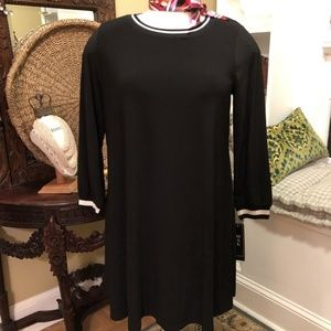 MSK - NWT-XL Black Dress with White Striping